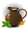 Milk jug vector image