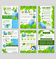 save energy poster template for ecology design vector image
