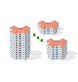isometric 3d dimensional skyscraper building of vector image