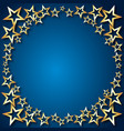 holiday background of stars vector image