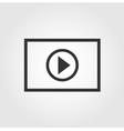 Video player icon flat design vector image