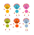 Men Icons Made from Colorful Paper and Safety vector image vector image