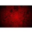 Dark red grunge brick wall background vector image vector image