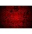 Dark red grunge brick wall background vector image