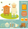 Apiary Set vector image