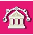 bank money buy building vector image