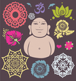 Buddha floral collection vector image