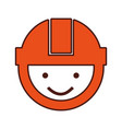 builder head with helmet vector image