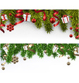 Christmas banners with spruce branches vector image