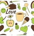 hand drawn doodle seamless repeated pattern vector image