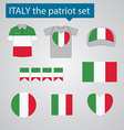 Italy the patriot set vector image