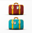 Retro suitcase vintage suitcases set isolated on vector image