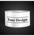 White Blank Tincan Metal Tin Can Canned Food vector image