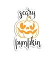 Halloween scary pumpkin head vector image
