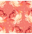 Seamless pattern with pink rose vector image
