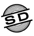 sd rubber stamp vector image