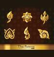 thai art pattern set vector image