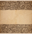 vintage old paper texture background with floral vector image