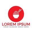 noodle restaurant and food logo design vector image