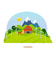 Nature and agriculture natural and organic food vector image