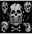 Skull Old school Style vector image