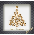 Christmas tree silver holiday background vector image