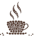 Hot Cup of Coffee with Bean Pattern vector image vector image