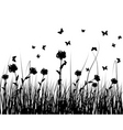 grass silhouettes vector image vector image