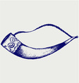 Drinking horn vector image