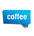 coffee blue 3d realistic paper speech bubble vector image