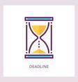 deadline icon time management concept vector image