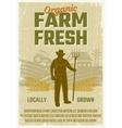Farm Retro Style Poster vector image