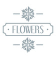 flower logo simple gray style vector image