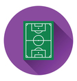 Icon of football field vector image