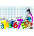 mathematical background vector image