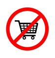 No shopping cart sign vector image