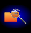search folder and magnifying glass icon vector image