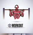 street workout symbol vector image