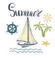 Summer Yacht Anchor Navy vector image