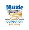 Musical instrument badge for music design vector image vector image