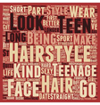 Teen Hair Styles text background wordcloud concept vector image