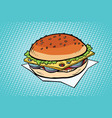 cheeseburger with onions and cheese vector image