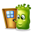 A monster knocking at the door vector image vector image