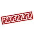 square grunge red shareholder stamp vector image