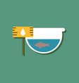 flat icon design collection fish in an aquarium vector image vector image
