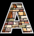 stone letter A vector image