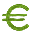 A Four Leaf Clove of Euro Symbol vector image