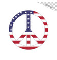 american flag peace sign vector image