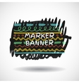 Black markers strokes banner vector image