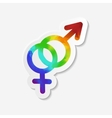 Gender identity icon Hetero symbol vector image